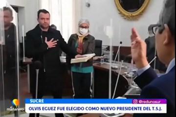 OLVIS EGUEZ FUE ELEGIDO COMO NUEVO PRESIDENTE DEL TSJ