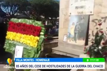 85 AÑOS DEL CESE DE HOSTILIDADES DE LA GUERRA DEL CHACO