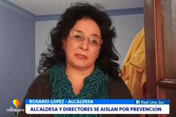 ALCALDESA Y DIRECTORES SE AISLAN PREVENTIVAMENTE