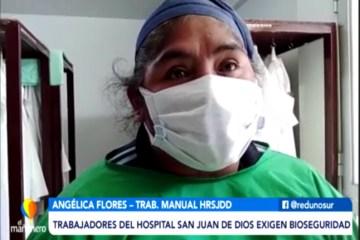 TRABAJADORES DEL HOSPITAL SAN JUAN DE DIOS EXIGEN BIOSEGURIDAD