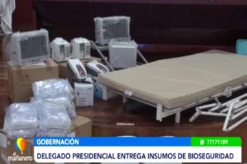 EL DELEGADO PRESIDENCIAL ENTREGÓ INSUMOS DE BIOSEGURIDAD