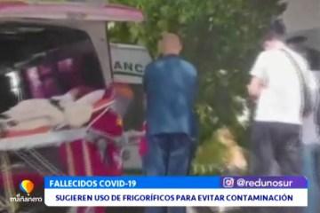 SUGIEREN EL USO DE FRIGORÍFICOS PARA ALMACENAR CUERPOS