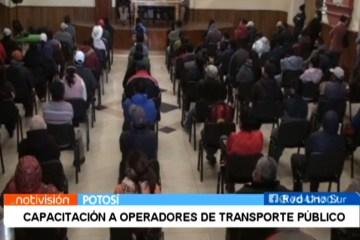 CAPACITACIÓN A OPERADORES DE TRANSPORTE PÚBLICO