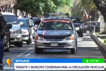 TRÁNSITO Y EL MUNICIPIO COORDINAN PARA LA CIRCULACIÓN VEHICULAR
