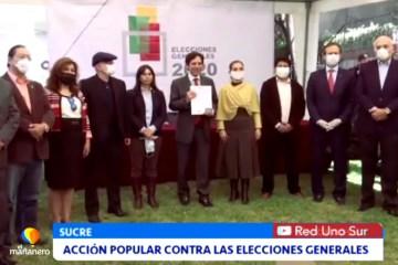 ACCIÓN POPULAR CONTRA LAS ELECCIONES GENERALES