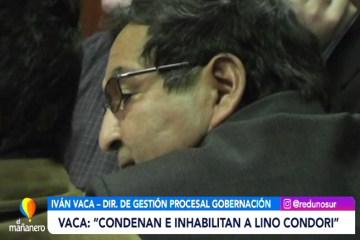 SENTENCIA CONDENATORIO DE 5 AÑOS DE CÁRCEL PARA LINO CONDORI