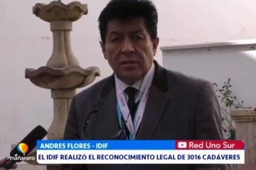EL IDIF REALIZÓ EL RECONOCIMIENTO LEGAL DE 3016 CADÁVARES