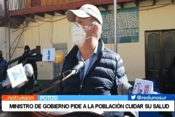 MINISTRO DE GOBIERNO PIDE A LA POBLACIÓN CUIDAR SU SALUD