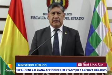 FISCAL GENERAL GANA ACCIÓN DE LIBERTAD Y JUEZ ARCHIVA OBRADOS