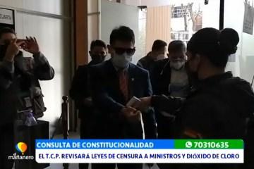 EL TCP REVISARÁ LEYES DE CENSURA A MINISTROS Y AL DIÓXIDO DE CLORO