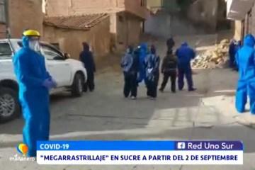"""""""MEGA RASTRILLAJE"""" EN SUCRE A PARTIR DEL 2 DE SEPTIEMBRE"""
