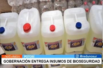 GOBERNACIÓN ENTREGA INSUMOS DE BIOSEGURIDAD
