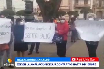 EXIGEN LA AMPLIACIÓN DE SUS CONTRATOS HASTA DICIEMBRE