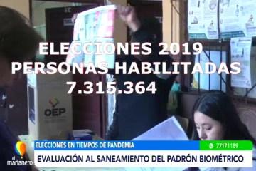 EVALUACIÓN AL SANEAMIENTO DEL PADRÓN BIOMÉTRICO