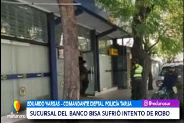 SUCURSAL DEL BANCO BISA SUFRIÓ UN INTENTO DE ROBO