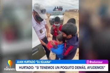 JUAN HURTADO Y EL GACIP ENTREGARON AYUDA A FAMILIAS NECESITADAS