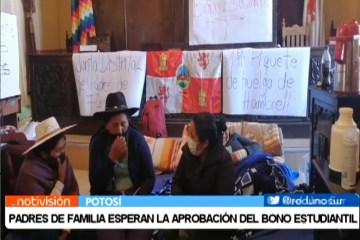 PADRES DE FAMILIA ESPERAN LA APROBACIÓN DEL BONO ESTUDIANTIL