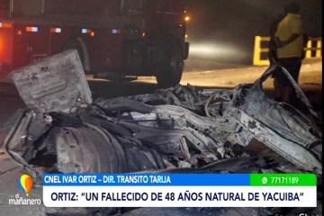 EXPLOSIÓN DE CISTERNA FUE POR PROBABLE EXCESO DE VELOCIDAD