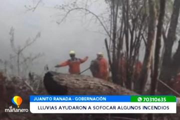 LLUVIAS AYUDARON A SOFOCAR PARTE DE LOS INCENDIOS