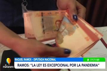 DIPUTADA RAMOS ASEGURA QUE NO SE CUMPLE LA LEY DE DIFERIMIENTO