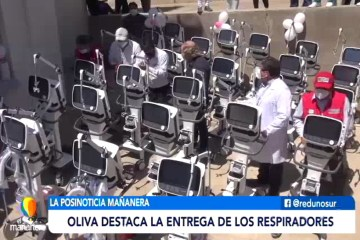 POSINOTICIA: GOBERNACIÓN ENTREGÓ 25 RESPIRADORES COMPLETOS
