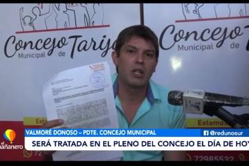 RENUNCIA DE PAZ SERÁ TRATADA EN EL PLENO DEL CONCEJO