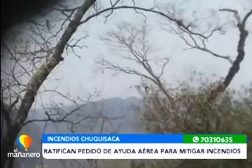 RATIFICAN PEDIDO DE AYUDA AÉREA PARA MITIGAR INCENDIOS