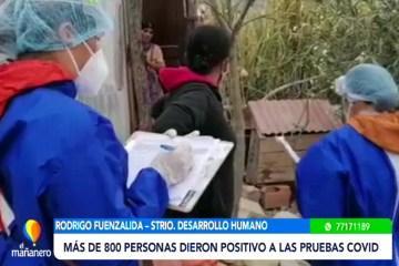 9.320 FAMILIAS FUERON VISITADAS EN LOS RASTRILLAJES