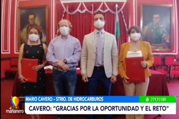 """CAVERO: """"GRACIAS POR LA OPORTUNIDAD Y EL RETO"""""""