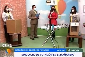 SIMULACRO DE VOTACIÓN EN EL MAÑANERO
