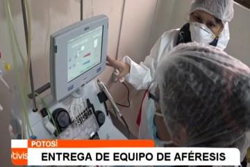 ENTREGA DE EQUIPO DE AFÉRESIS