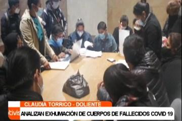 ANALIZAN EXHUMACIÓN DE CUERPOS DE FALLECIDOS COVID 19