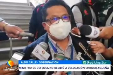 MINISTRO DE DEFENSA NO RECIBIÓ A DELEGACIÓN CHUQUISAQUEÑA