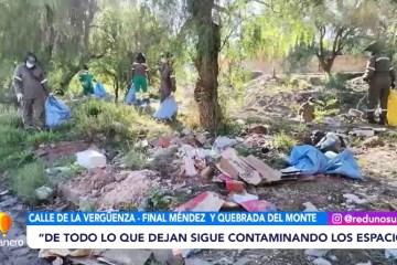 FINAL MÉNDEZ Y QUEBRADA DEL MONTE LLENAS DE BASURA