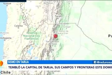 TEMBLÓ LA CAPITAL DE TARIJA ESTE DOMINGO