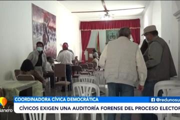 CÍVICOS EXIGEN UNA AUDITORÍA FORENSE AL PROCESO ELECTORAL
