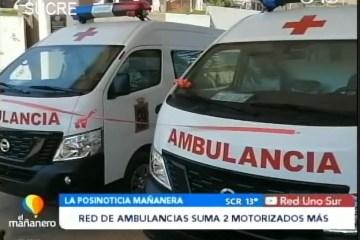 POSINOTICIA: RED DE AMBULANCIAS SUMA DOS MOTORIZADOS MÁS