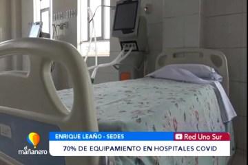 PREPARACIÓN DEL 70% DE EQUIPAMIENTO EN HOSPITALES COVID