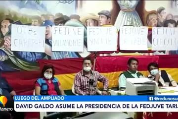 DAVID GALDO ASUME LA PRESIDENCIA DE LA FEDJUVE TARIJA