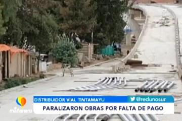 PARALIZARON OBRAS POR FALTA DE PAGOS