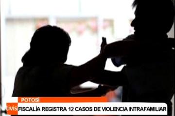 FISCALÍA REGISTRA 12 CASOS DE VIOLENCIA INTRAFAMILIAR