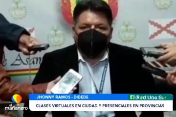 CLASES VIRTUALES EN LA CIUDAD Y PRESENCIALES EN LAS PROVINCIAS