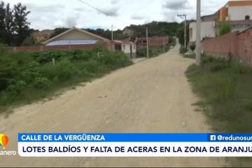 POSINOTICIA: LOTES BALDÍOS Y FALTA DE ACERAS EN LA ZONA DE ARANJUEZ