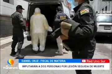 IMPUTARÁN A DOS PERSONAS POR EL DELITO DE LESIÓN SEGUIDA DE MUERTE