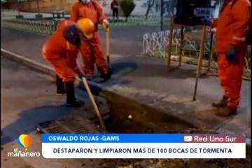 DESTAPARON Y LIMPIARON MÁS DE 100 BOCAS DE TORMENTA