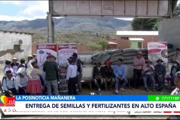 POSINOTICIA: ENTREGA DE SEMILLAS Y FERTILIZANTES EN ALTO ESPAÑA