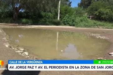 RECLAMOS POR BACHES Y AGUA ESTANCADA EN EL BARRIO SAN JORGE 1