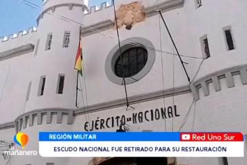 ESCUDO NACIONAL FUE RETIRADO PARA SU RESTAURACIÓN