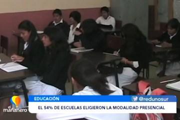 EL 54% DE ESCUELAS ELIGIERON LA MODALIDAD PRESENCIAL