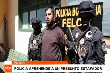 POLICÍA APREHENDE A UN PRESUNTO ESTAFADOR